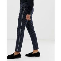 slim trousers in navy pinstripe - navy marki Burton menswear