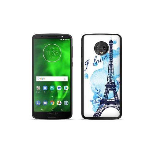Motorola Moto G6 - etui na telefon Fantastic Case - niebieska wieża eiffla