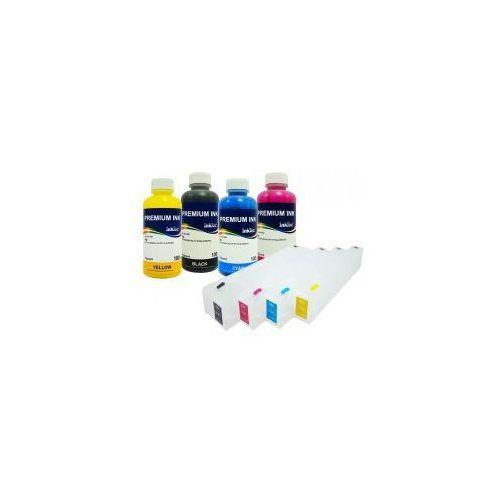 Wieczne kartridże do drukarek hp officejet serii 980 + tusze inktec pigment 4x100 ml. marki Do hp