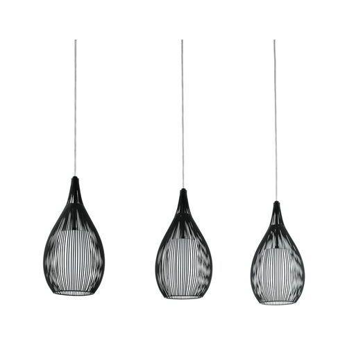 LAMPA wisząca RAZONI 94389 Eglo druciana OPRAWA listwa drut czarny - produkt z kategorii- Lampy sufitowe