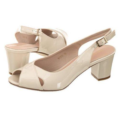 Sandały Sergio Leone Beżowe Lakierowane 16000 (SL172-a)