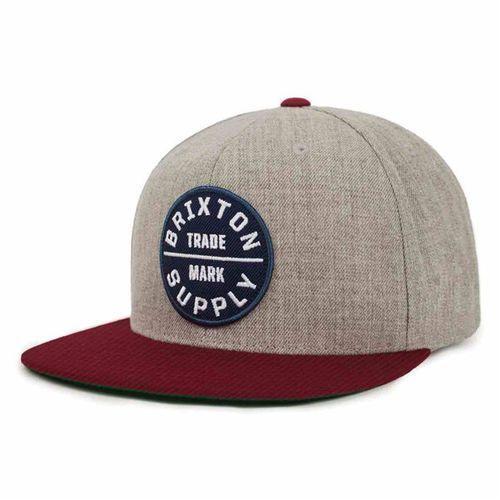 czapka z daszkiem BRIXTON - Oath Iii Heather Grey/Cardinal (HTGCD) rozmiar: OS, kolor szary