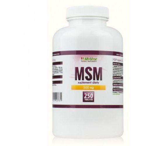 Myvita Tabletki msm - 250 tabletek (5905279123731). Najniższe ceny, najlepsze promocje w sklepach, opinie.