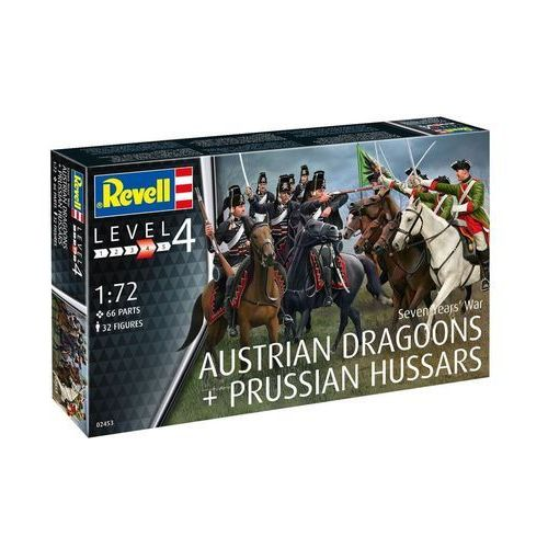 Revell seven years war austrian dragons + prussian hussars