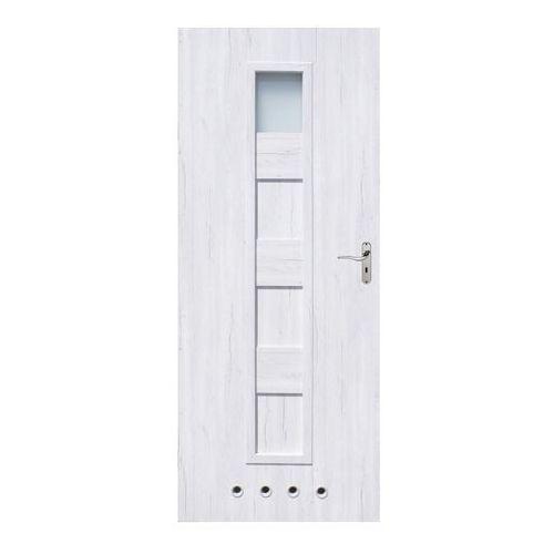 Drzwi z tulejami Alicja 60 lewe silver