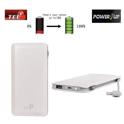 Telone Bateria zewnętrzna power bank tel1 slim 12000mah biały (5900217141808)