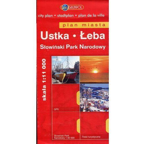 Ustka, Łeba. Plan miasta 1:11 000, Daunpol