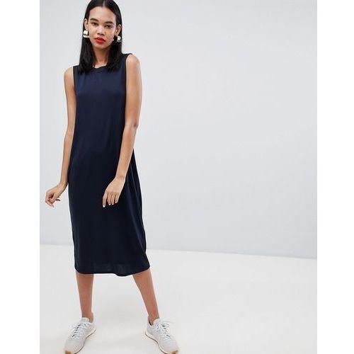 sleeveless column dress - blue, Weekday, 34-40