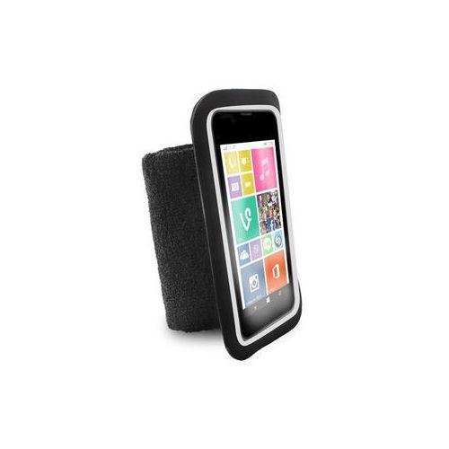 """PURO Running Band - Uniwersalna frotka do biegania do smartfonów max 4.3"""" + key pocket (czarny), UNIRUNLBLK"""
