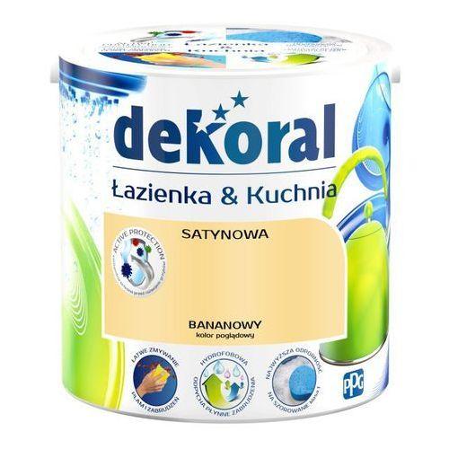 Farba satynowa Dekoral Łazienka i Kuchnia bananowy 2,5 l, 390787