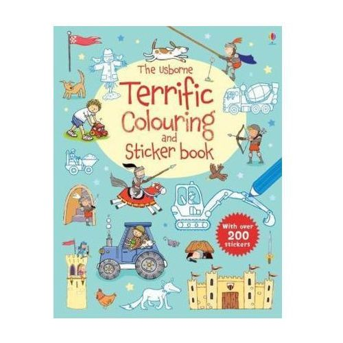 Usborne Terrific Colouring and Sticker Book
