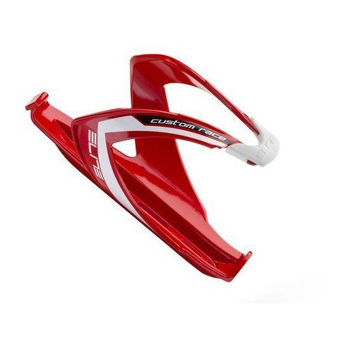 El0061684 koszyk na bidon custom race czerwony z białym logo marki Elite