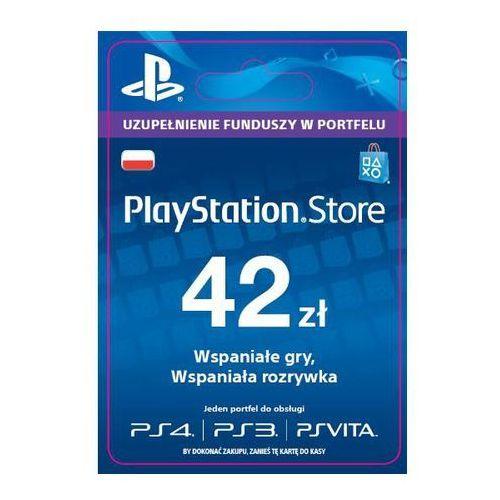 playstation network 42 zł [kod aktywacyjny] marki Sony