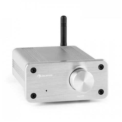 Auna BT-Bro silver mini-wzmacniacz stereoklasa D Bluetooth aluminium