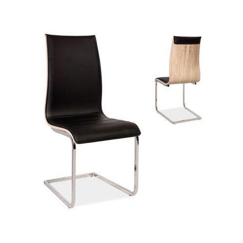 Krzesło h-133 czarny/dąb sonoma marki Signal