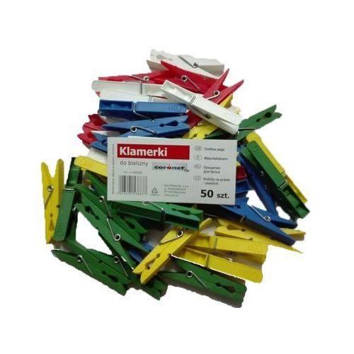 KLAMERKI PLASTIKOWE 50 SZT CORONET (4043401538877)