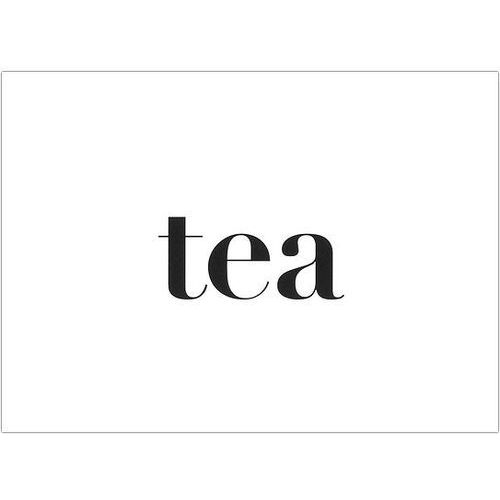 Follygraph Plakat typograficzny tea 30 x 40 cm
