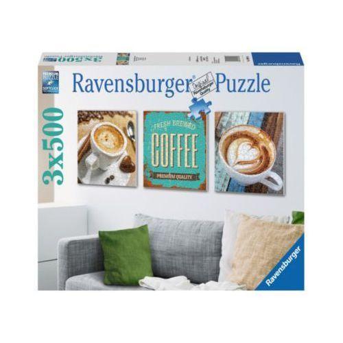 RAVEN. 3X500 EL. Coffee time tryptyk