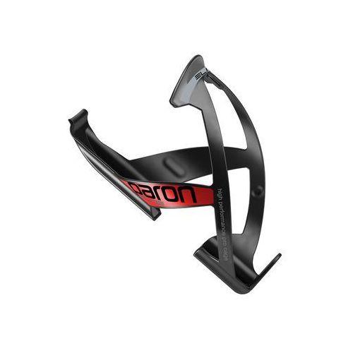 EL0101513 Koszyk na bidon ELITE PARON RACE czarny z czerwoną grafiką