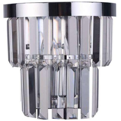 Kinkiet LAMPA ścienna VETRO LP-2910/1W Light Prestige szklana OPRAWA glamour chrom przezroczysta