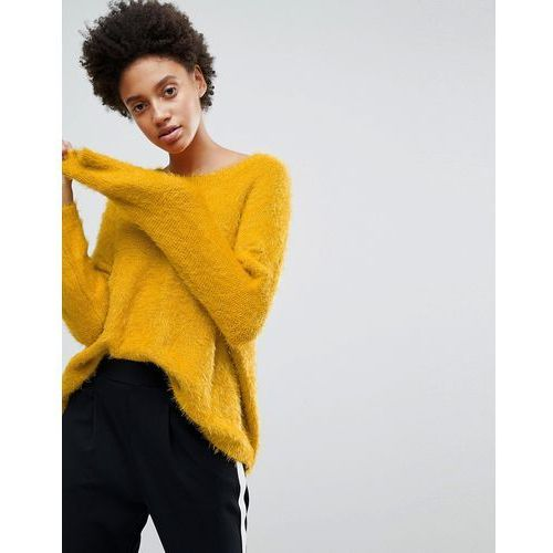 Stradivarius long sleeve fluffy jumper - yellow