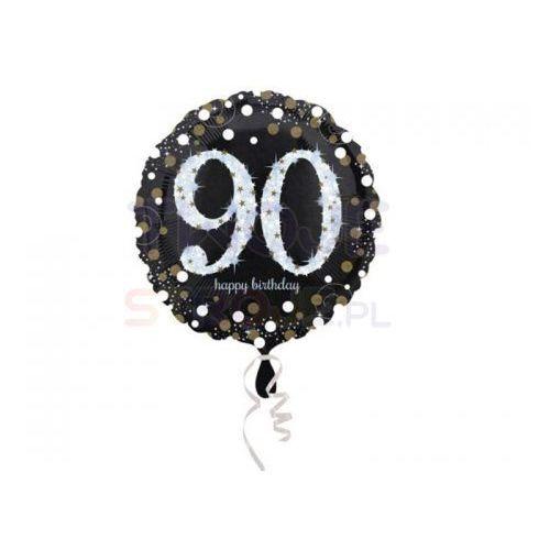 Balon 90 urodziny czarny 17'' 43cm marki Twojestroje.pl