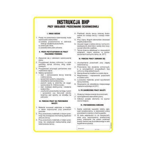 Instrukcja BHP przy obsłudze przecinarki ściernicowej