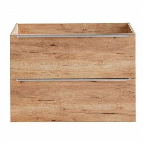 Podwieszana szafka łazienkowa pod umywalkę - Malta 3X Dąb 80 cm, CAPRI-OAK-821A