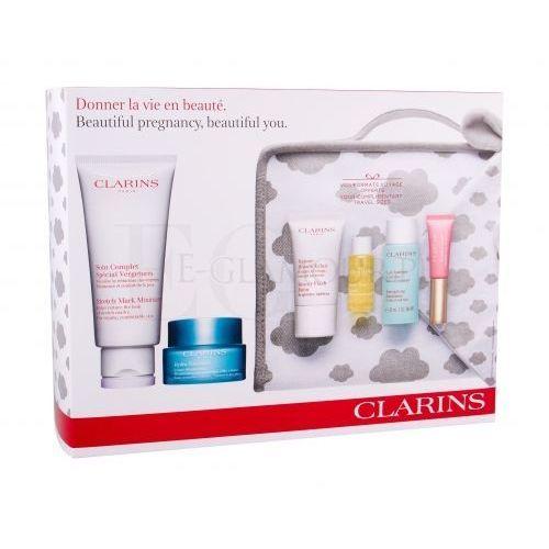 Clarins stretch mark minimizer zestaw 200 ml paletka do makijażu dla kobiet
