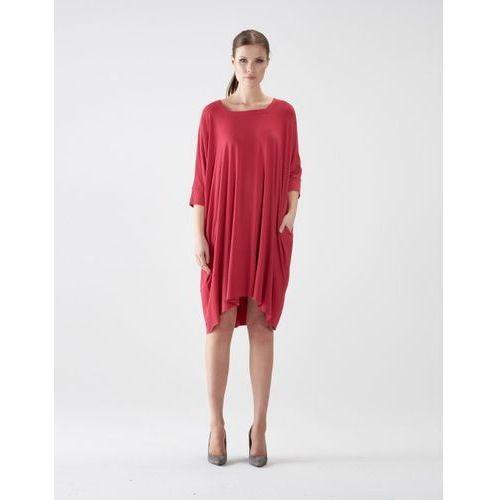 Sukienka su127 (Kolor: brązowy, Rozmiar: Uniwersalny)