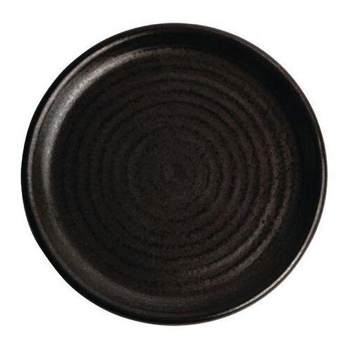 Okrągły talerz o wąskim brzegu, czarna delhi 180mm canvas (zestaw 6 sztuk) marki Olympia