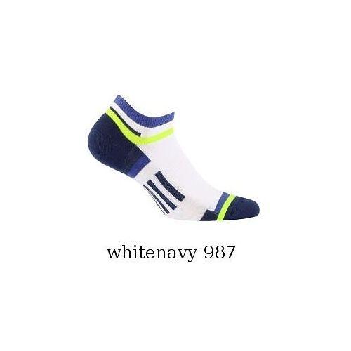 Stopki Wola Sportive męskie W 911N39 Ag+ wzór 45-47, szary-jeans/greyjeans, Wola, kolor szary
