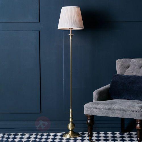 Lampa podłogowa IMPERIA Złoty/Biały 106322 - Markslojd - Mega rabat w koszyku Lampy Markslojd są tworzone z myślą o Klientach ceniących sobie najwyższą jakość wykonania. Marka Markslojd to Skandynawskie lampy wykonany z najwyższej jakości materiałów. Lampy Markslojd to elegancja i design w Państwa wnętrzach i ogrodach. MATERIAŁ (7330024558342)