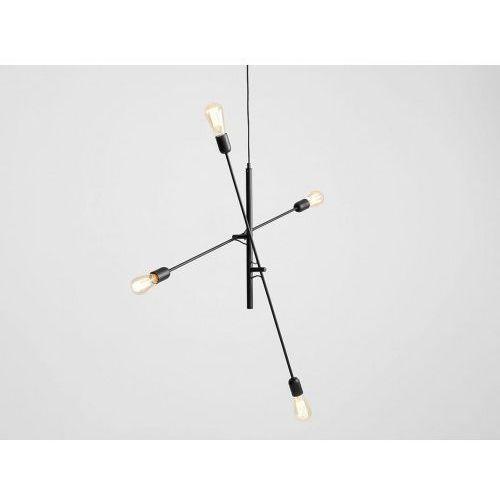 OKAZJA - Lampa sufitowa w stylu industrialnym Customform TWIGO 4 - kolor czarny (5010000014599)