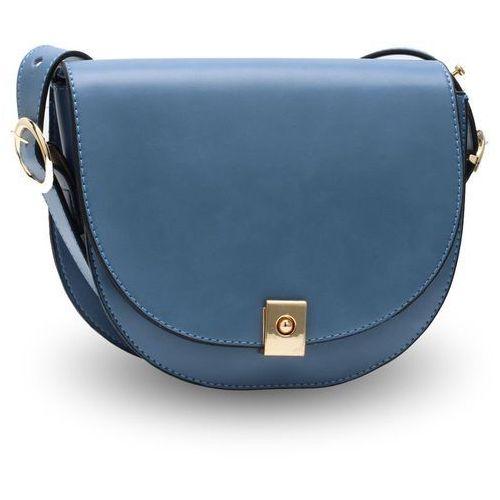 Torebka damska listonoszka na ramię niebieska - niebieski