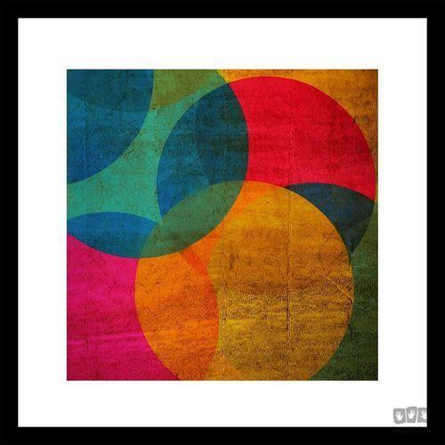 Obraz w ramie kolorowe okręgi 41-322 marki Graham&brown