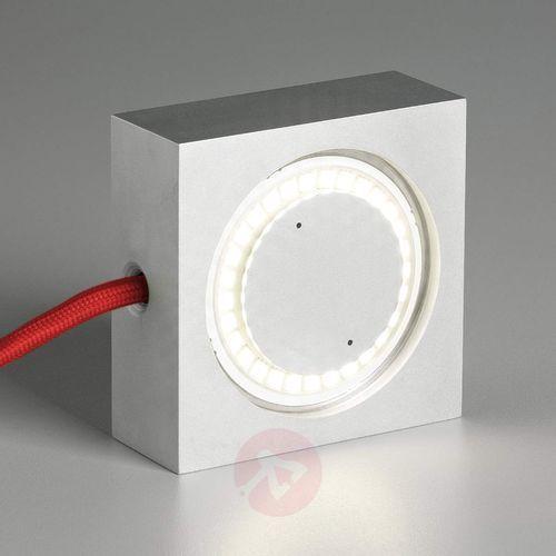 Wielofunkcyjna lampa SQUARE z LED, czerw. przewód