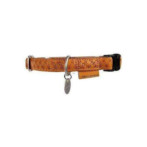 obroża regulowana mac leather 20mm żółta [522040ja] marki Zolux