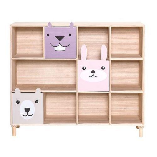 Bloomingville Półka na książki z szufladami dla dzieci