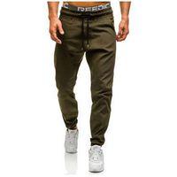 Zielone spodnie baggy męskie Denley 0399, kolor zielony