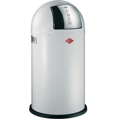 Wesco Pushboy 50L wzornictwo kosz na śmieci z pedałem biały (4004519124697)