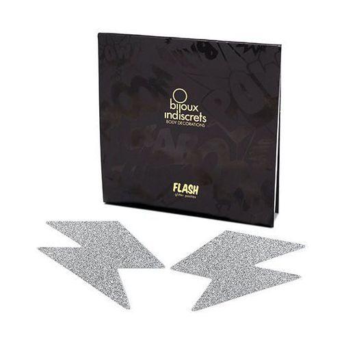 Bijoux indiscrets Naklejki na sutki -  flash bolt silver srebrna błyskawica
