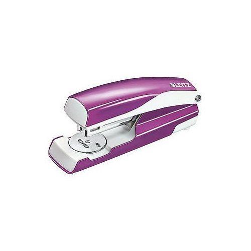 Zszywacz średni metalowy wow metaliczny fioletowy 30 kartek 55021062 marki Leitz