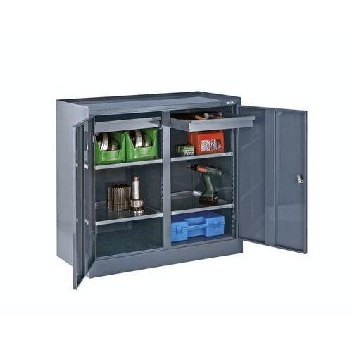 Szafa na narzędzia,ze ścianką działową, 2 szuflady, 4 półki