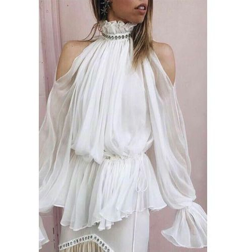 Damska bluzka FARA, kolor biały