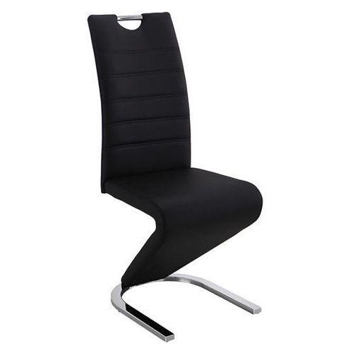 Krzesło tapicerowane do jadalni dc-99-2 czarno-białe marki Meblemwm
