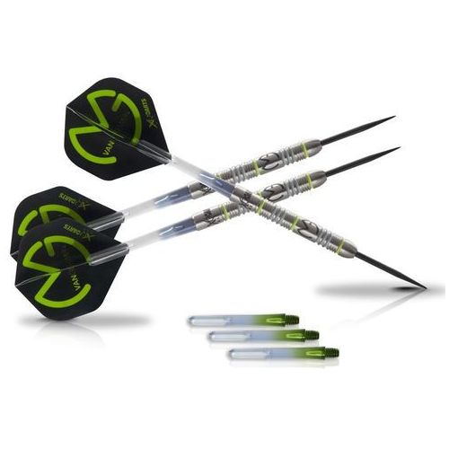 Xqmax darts zestaw rzutek mvg green demolisher, 25g, qd2200030 (8719033339521)