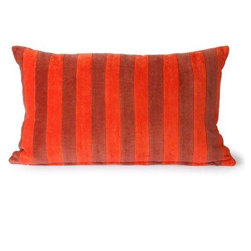 poduszka velvet w paski czerwony/bordowy (30x50) tku2116 marki Hkliving