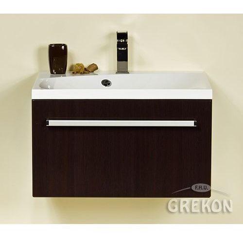 Szafka łazienkowa z umywalką 60/50/m fokus wenge połysk marki Gante