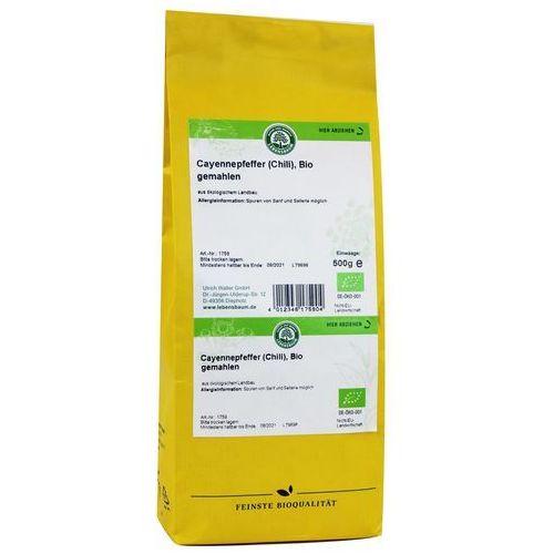 Chili (pieprz cayenne) bio 500 g - lebensbaum marki Lebensbaum (przyprawy, herbaty, kawy)